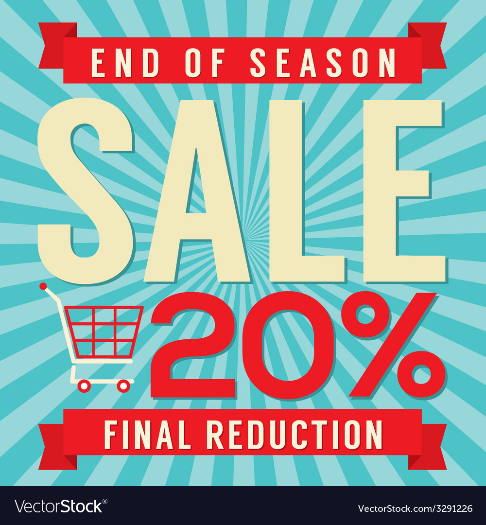 20 percent end of season sale vector | Price: 1 Credit (USD $1)