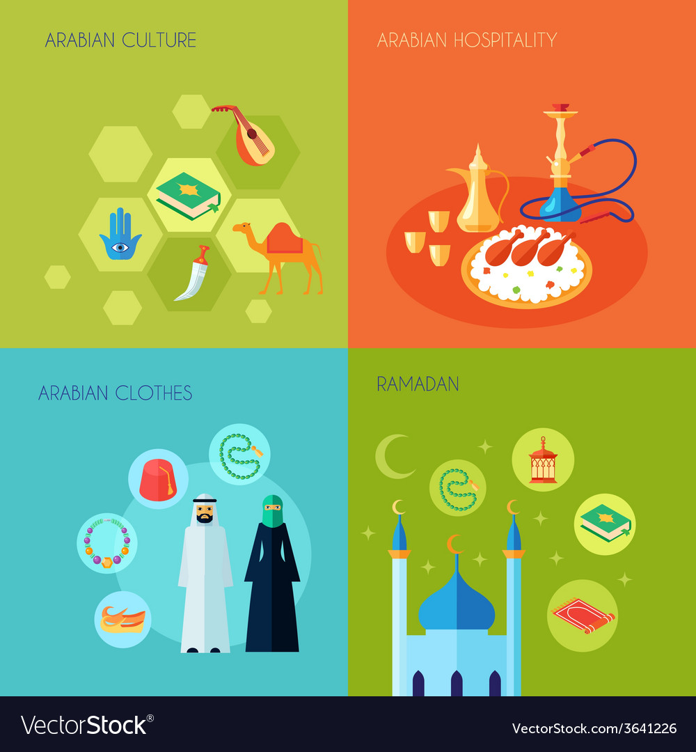 Arabic culture flat vector | Price: 1 Credit (USD $1)