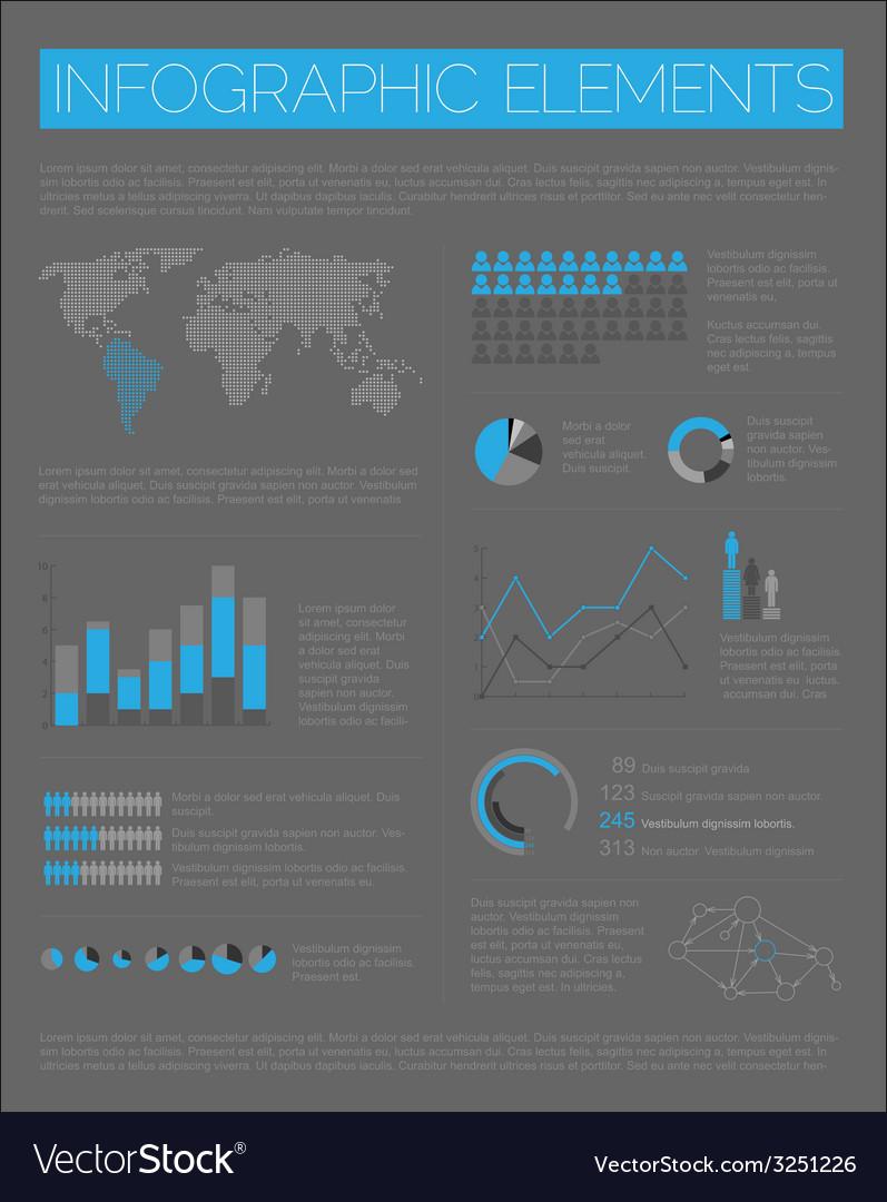 Big set of infographic elements vector   Price: 1 Credit (USD $1)