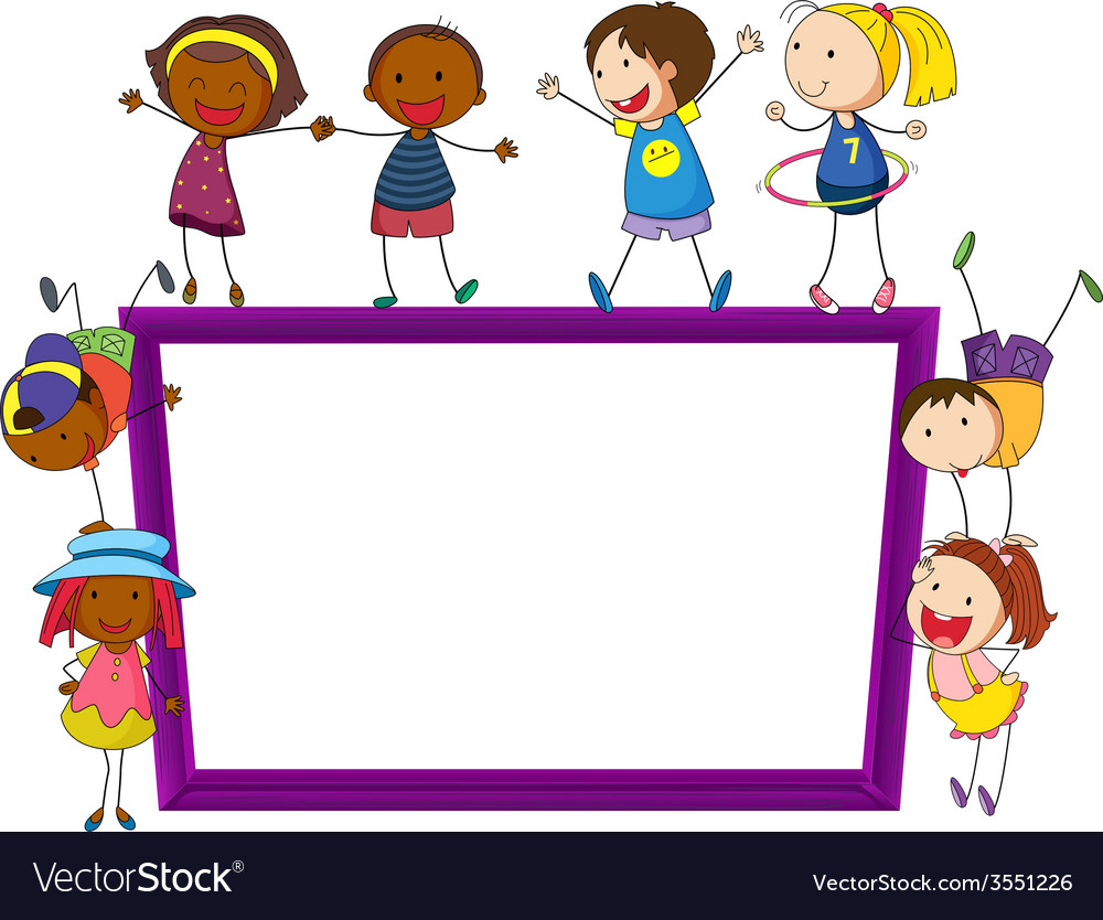 Children and frame vector | Price: 1 Credit (USD $1)