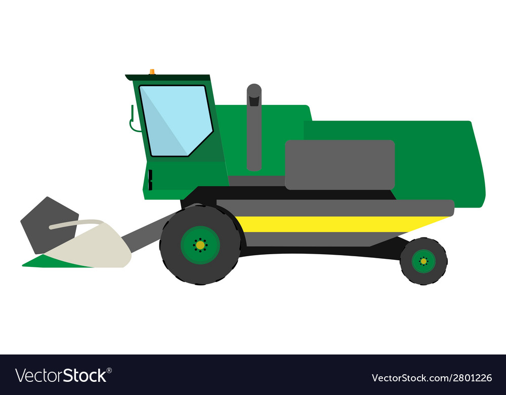 Obsolete green harvester vector | Price: 1 Credit (USD $1)