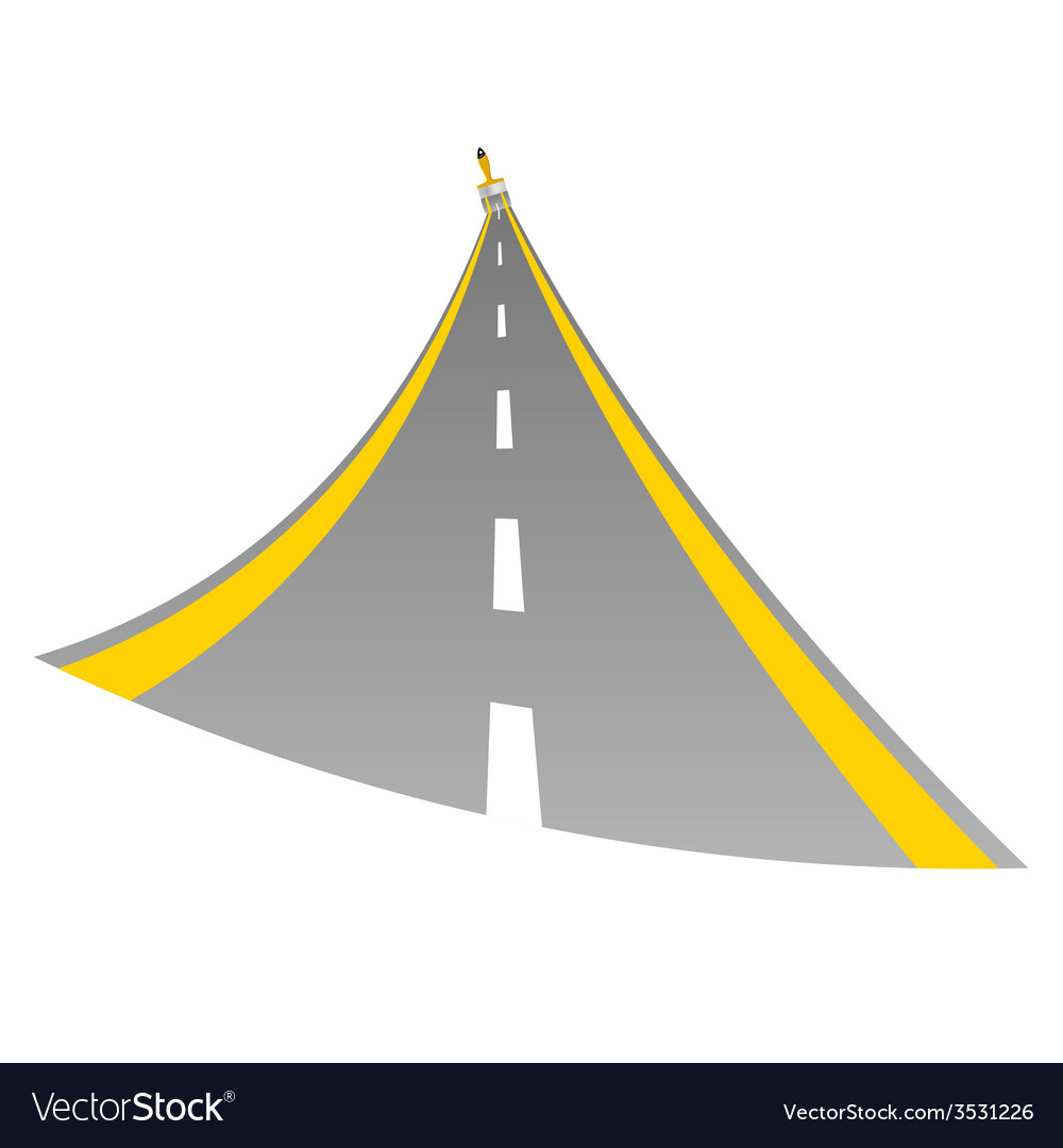Road with paint brush color vector | Price: 1 Credit (USD $1)