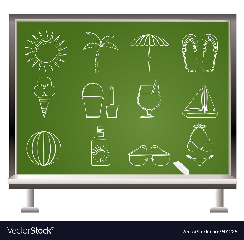 Summer and beach objects vector | Price: 1 Credit (USD $1)
