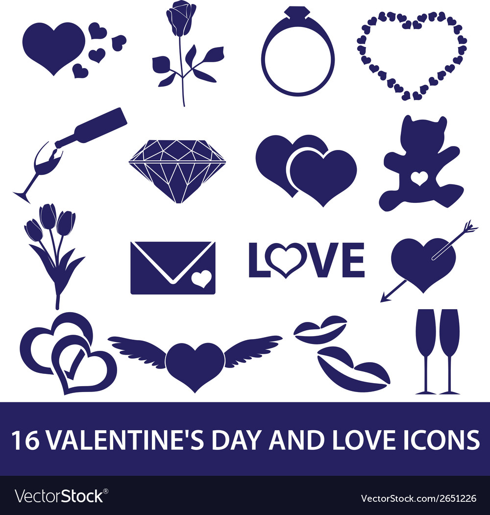 Valentines day and love icons eps10 vector | Price: 1 Credit (USD $1)