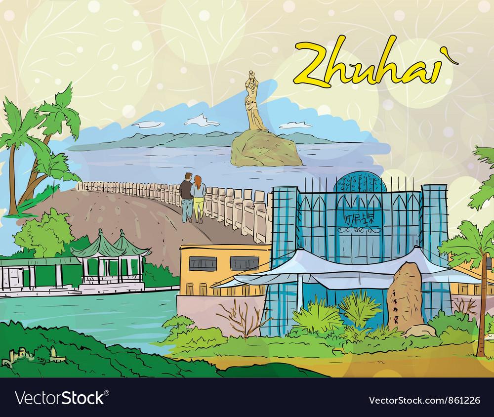 Zhuhai doodles vector | Price: 1 Credit (USD $1)