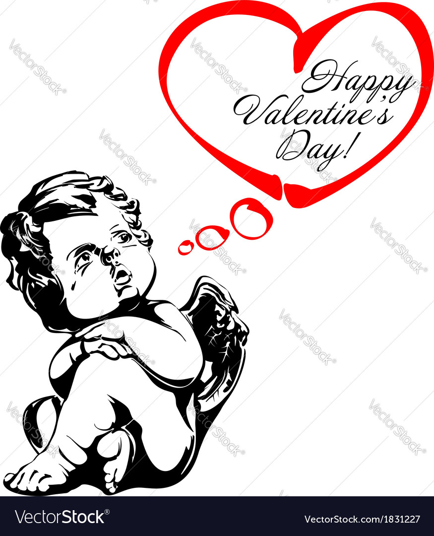 Angel or cupid isolated vector   Price: 1 Credit (USD $1)
