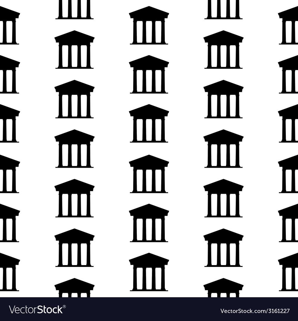Bank symbol seamless pattern vector | Price: 1 Credit (USD $1)
