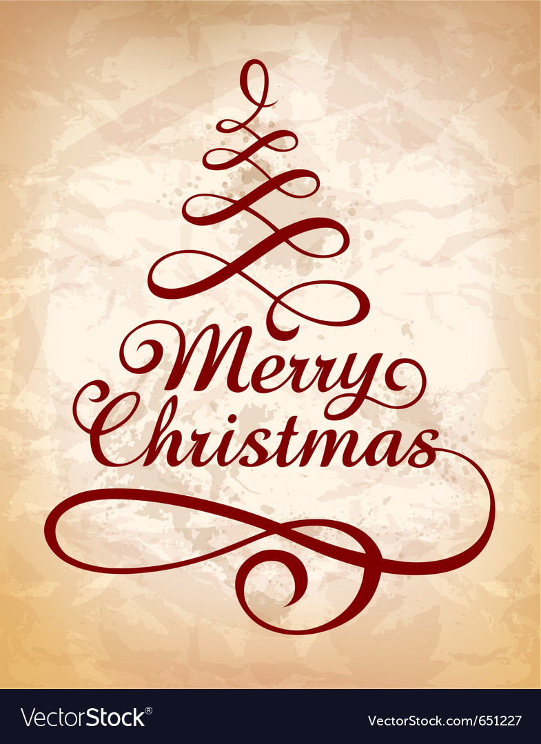 Calligraphic christmas lettering vector | Price: 1 Credit (USD $1)