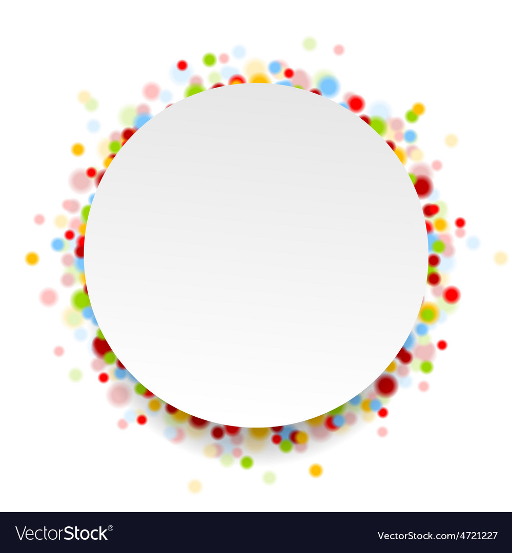 Circle design with shiny light confetti vector | Price: 1 Credit (USD $1)