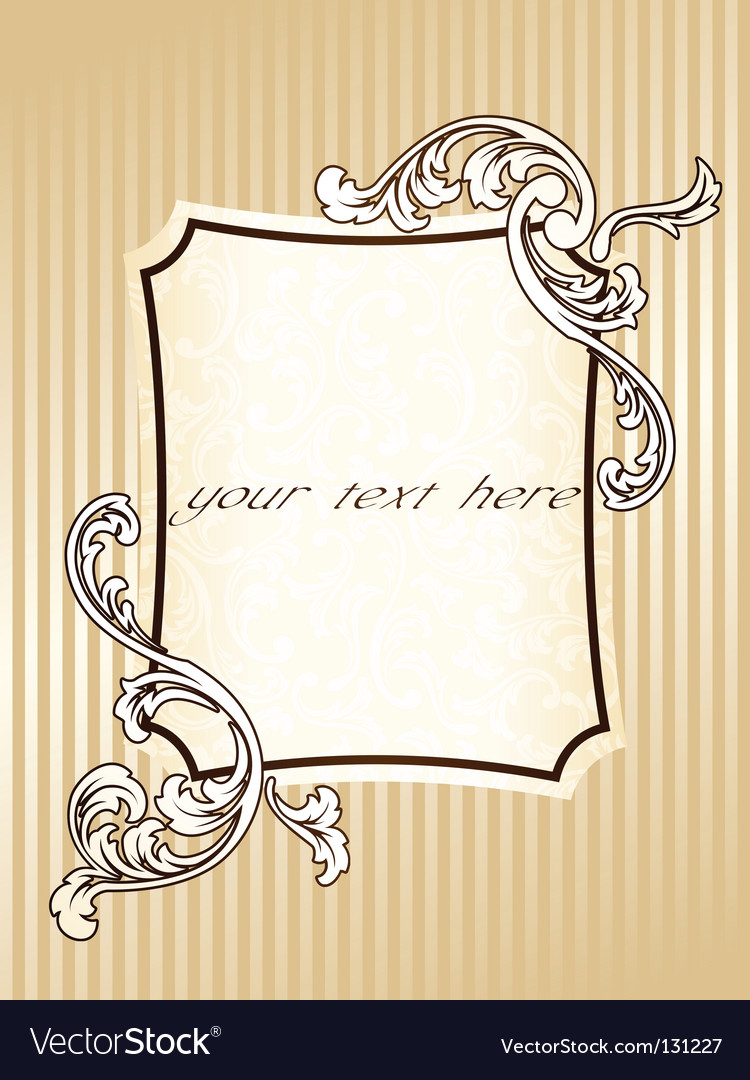 Elegant rectangular vintage sepia frame vector | Price: 1 Credit (USD $1)