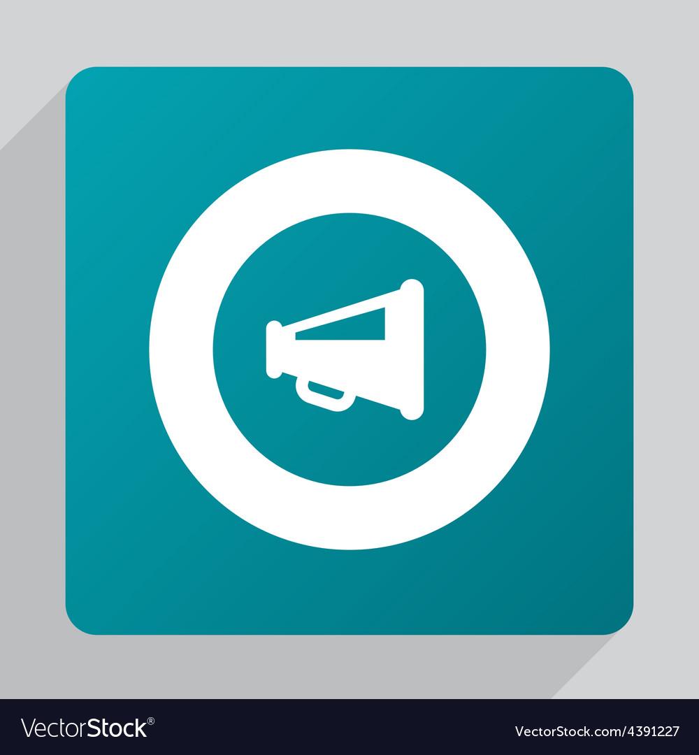 Flat speaker symbol icon vector   Price: 1 Credit (USD $1)