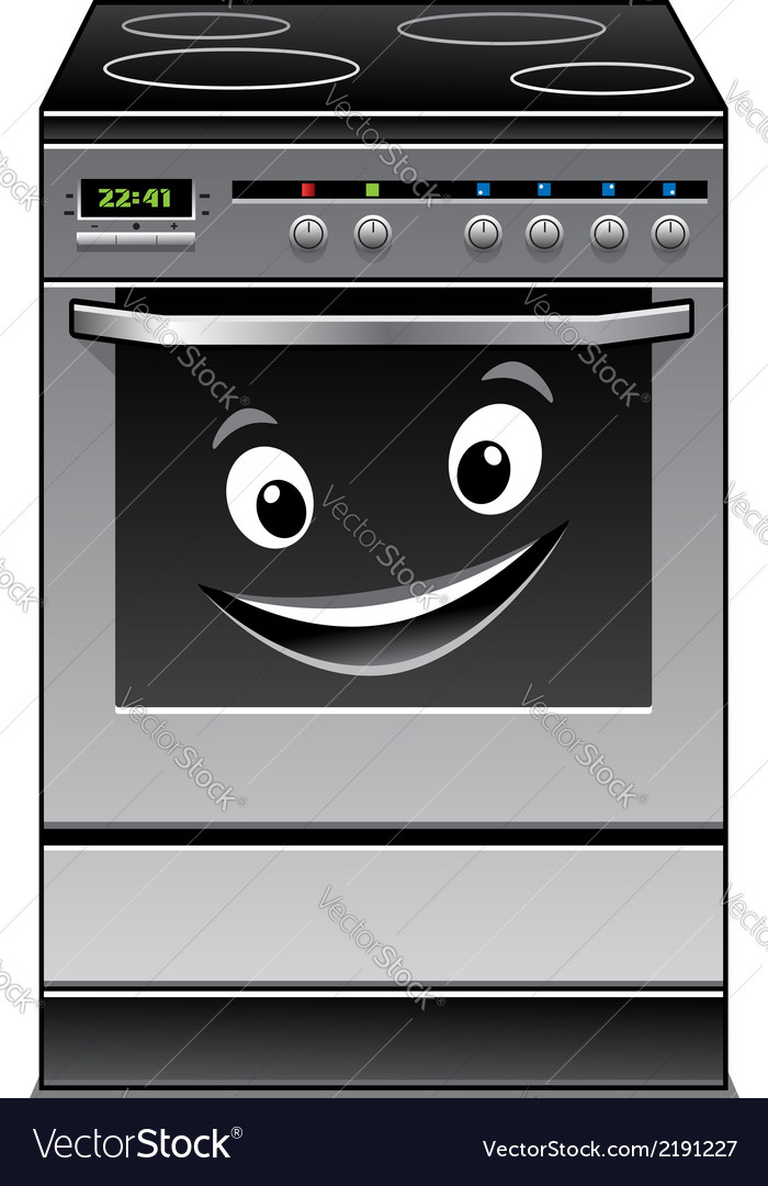 Fun modern stove kitchen appliance vector | Price: 1 Credit (USD $1)
