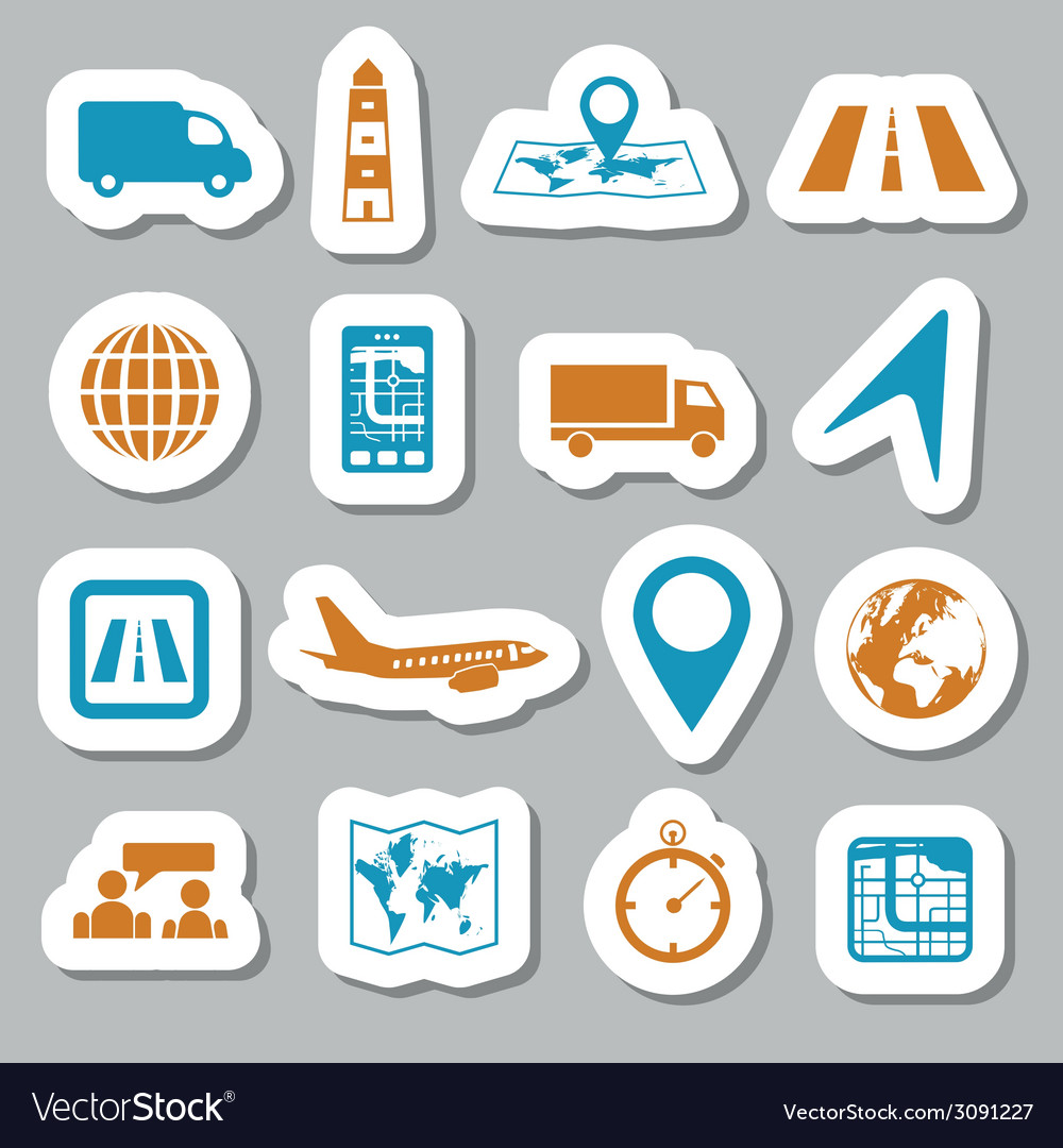 Logistic stickers vector | Price: 1 Credit (USD $1)