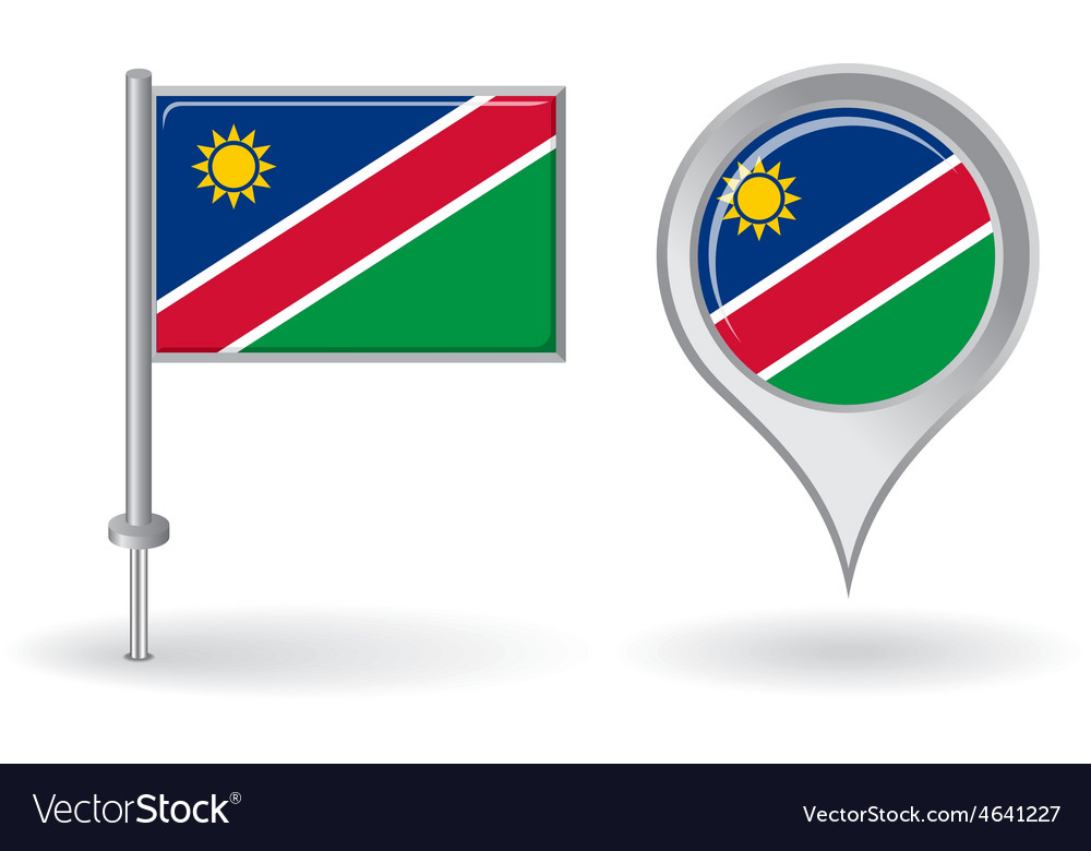Namibian pin icon and map pointer flag vector | Price: 1 Credit (USD $1)