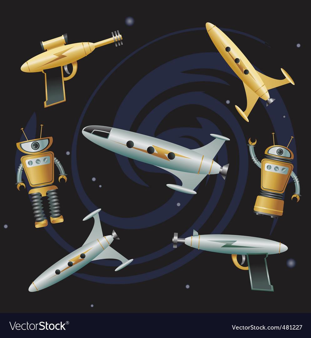 Space junk vector | Price: 3 Credit (USD $3)