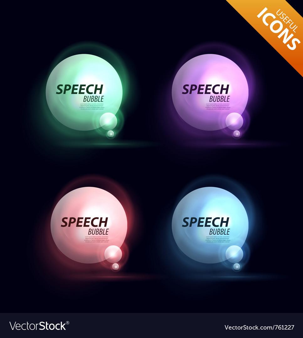Speech bubble design vector | Price: 1 Credit (USD $1)