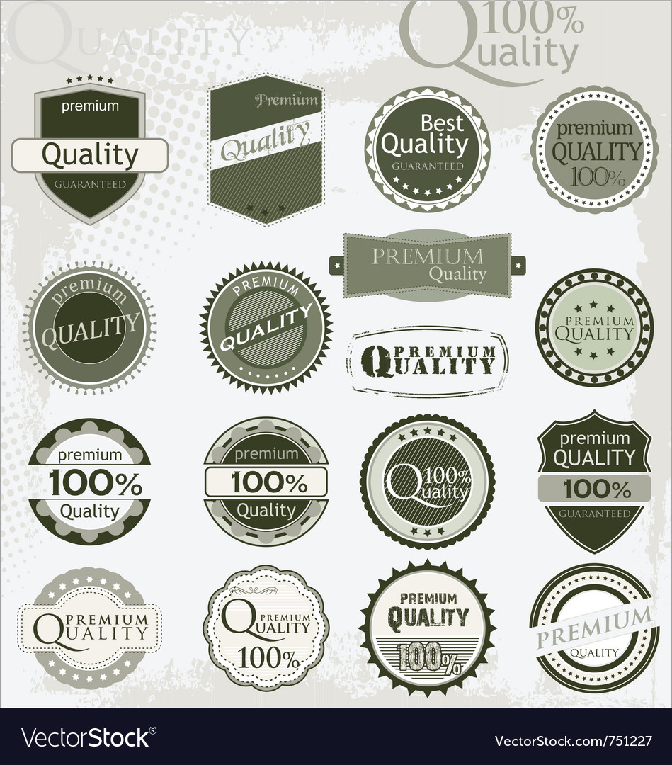 Vintage retro premium quality labels vector | Price: 1 Credit (USD $1)
