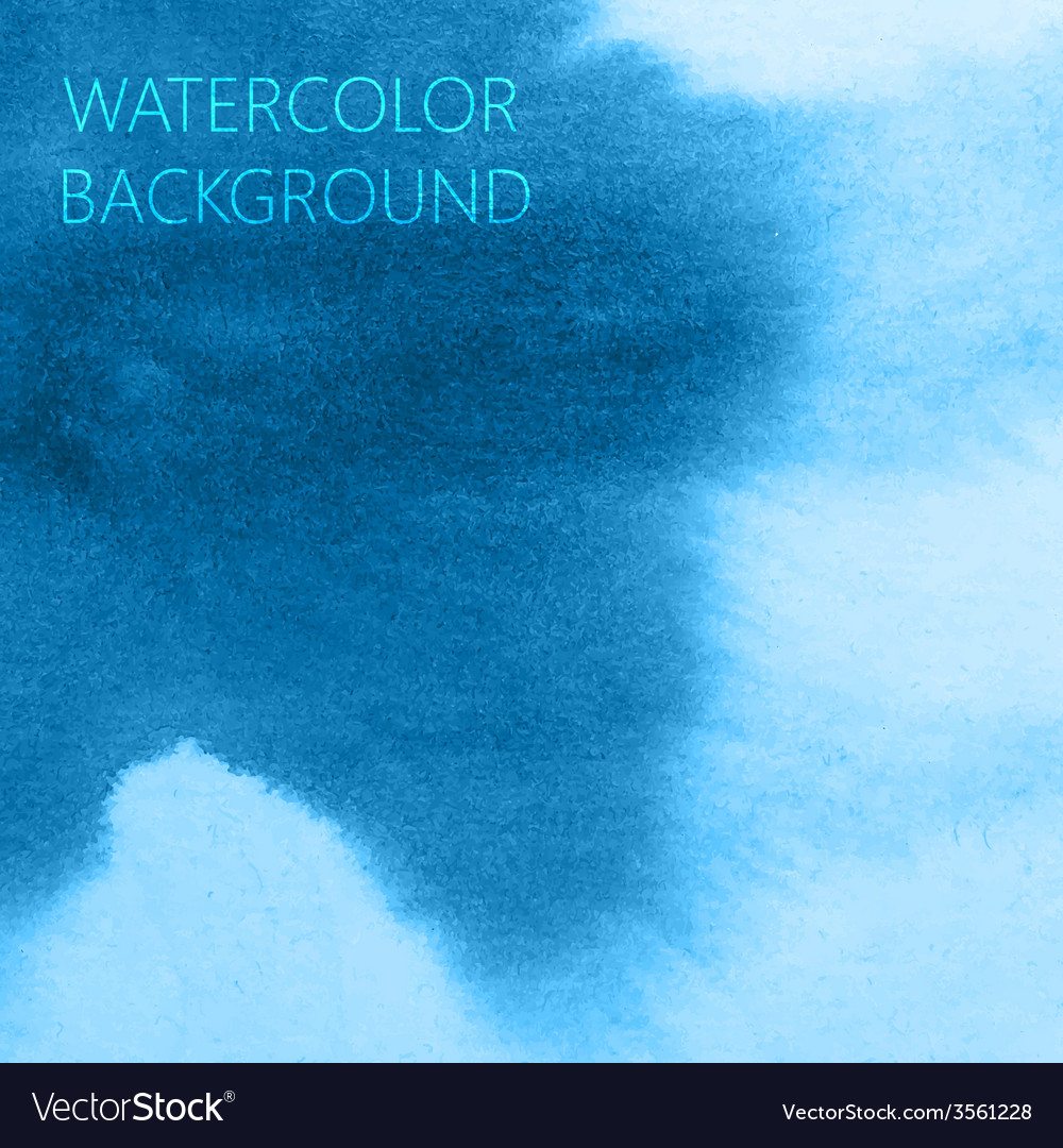 Abstract blue watercolor background for your vector | Price: 1 Credit (USD $1)