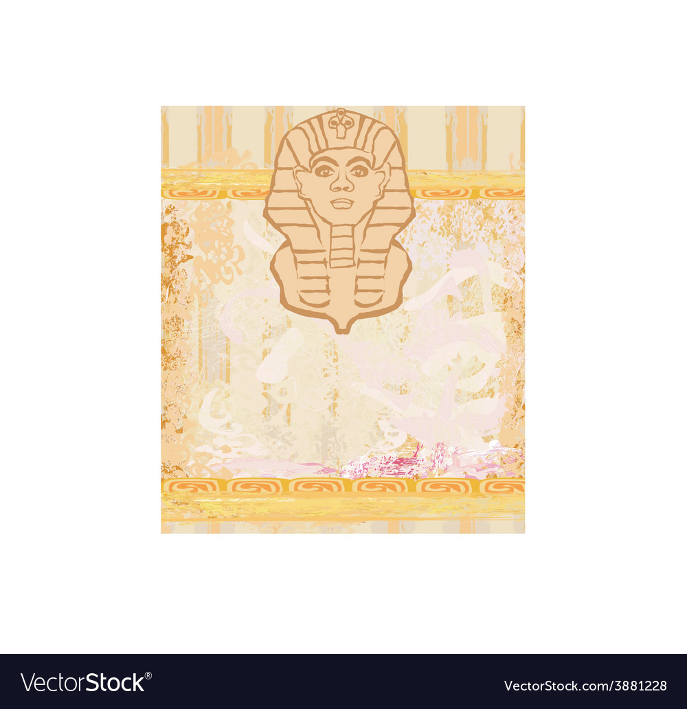 Abstract grunge frame - great sphinx of giza vector | Price: 1 Credit (USD $1)