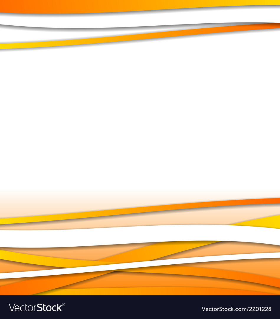 Abstract orange design template with lines vector | Price: 1 Credit (USD $1)