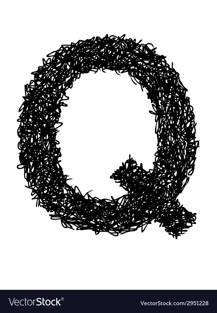 Alphabet q vector | Price: 1 Credit (USD $1)