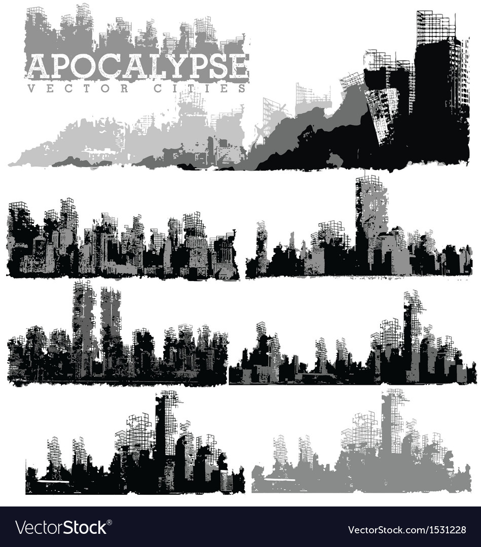 Apocaplyse cities vector | Price: 1 Credit (USD $1)