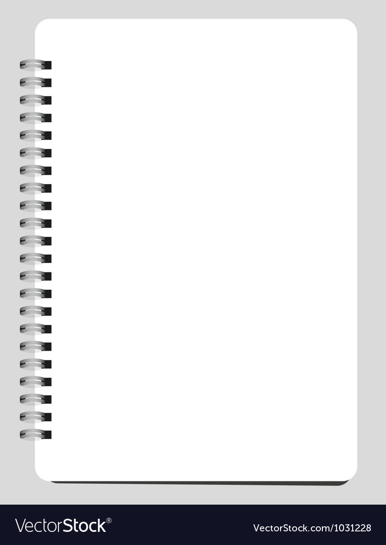 Blank notebook vector | Price: 1 Credit (USD $1)