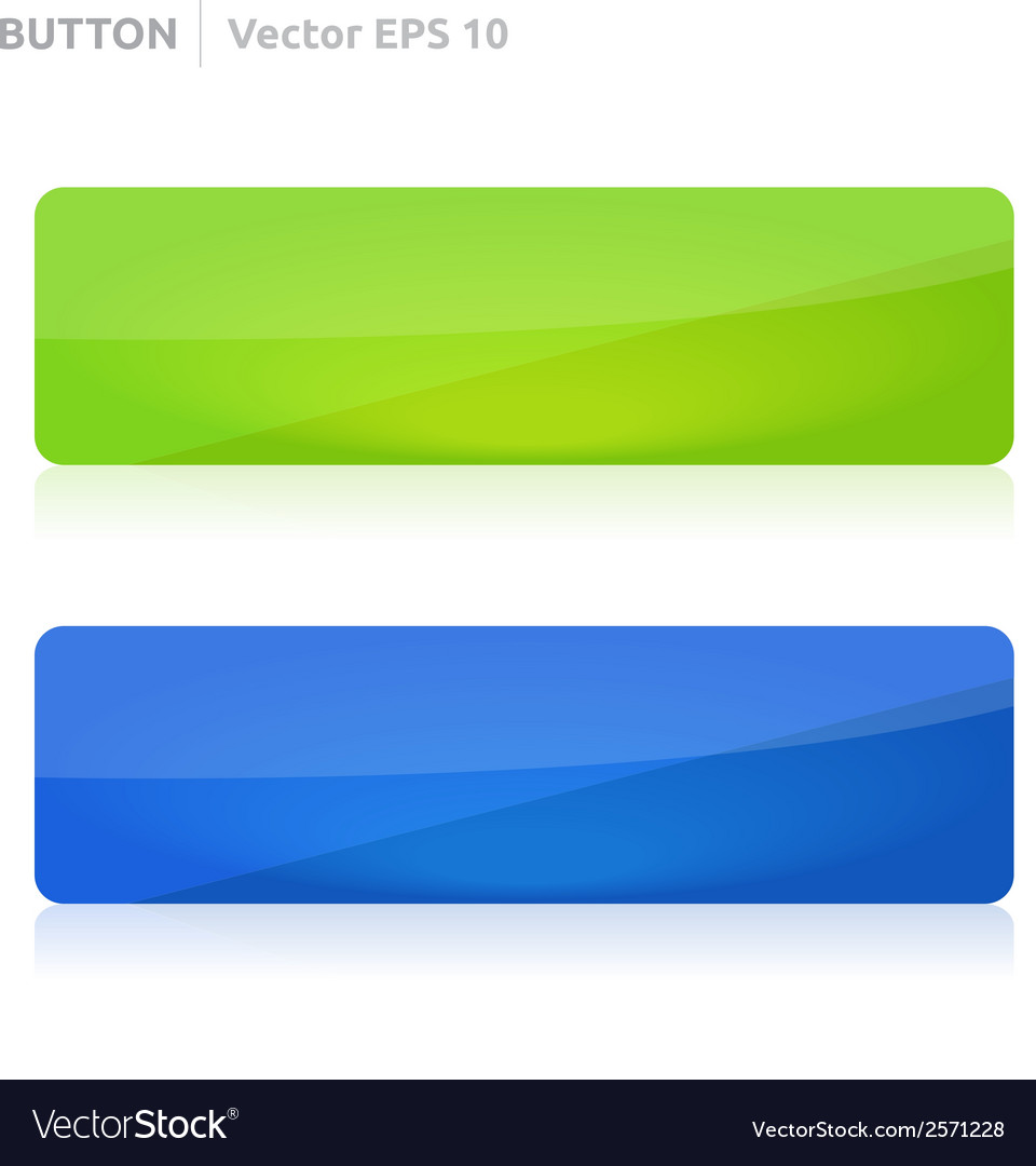 Button template web green and blue vector | Price: 1 Credit (USD $1)