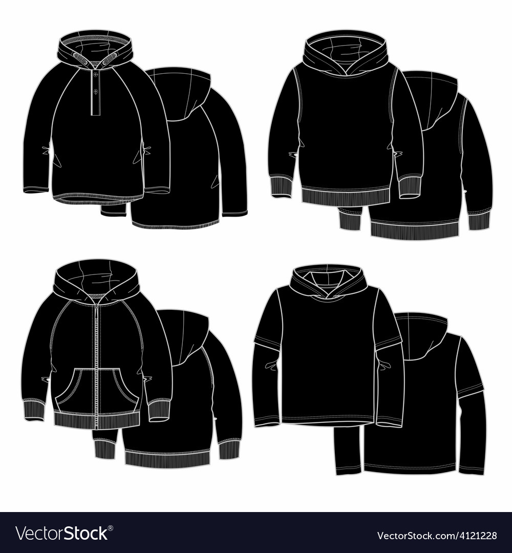 Four hoodies vector | Price: 1 Credit (USD $1)