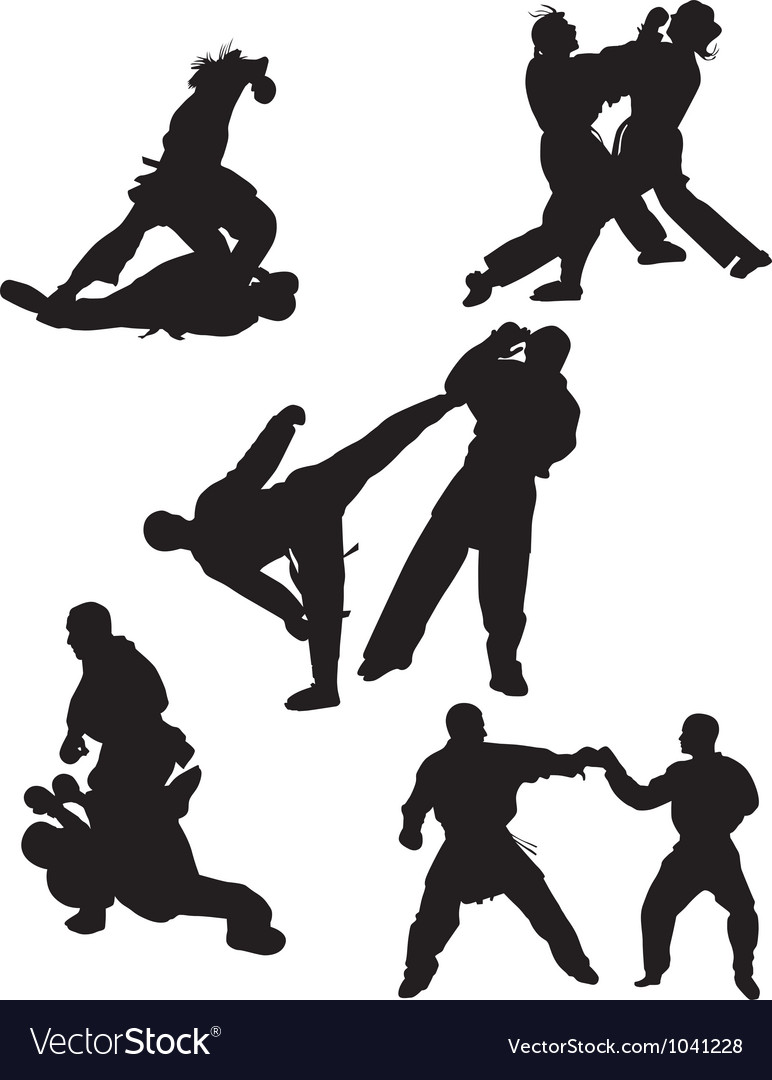 Karate silhouette vector | Price: 1 Credit (USD $1)