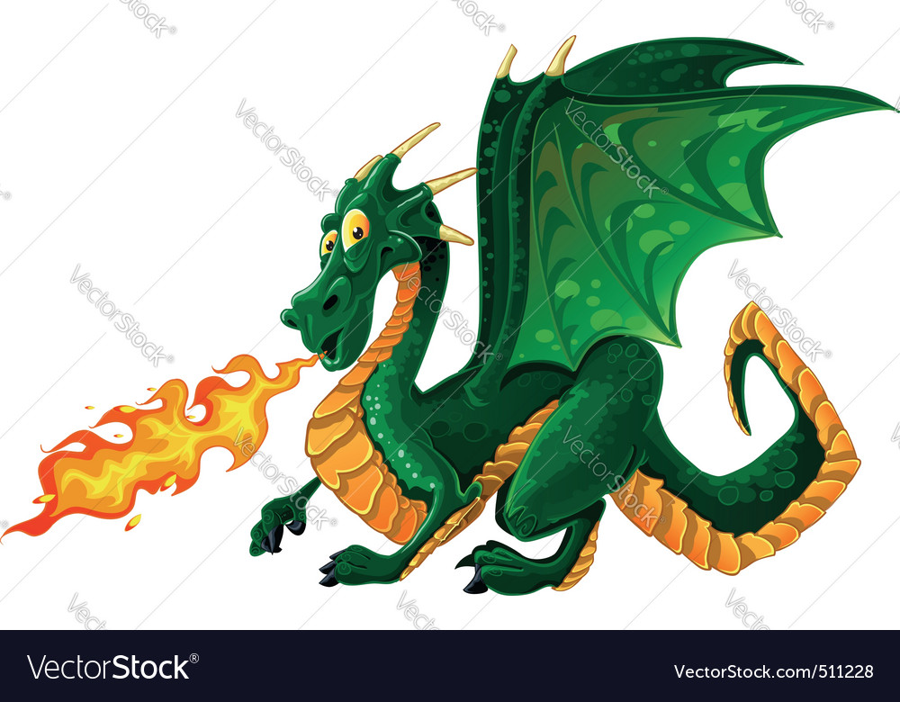 Magical dragon vector | Price: 3 Credit (USD $3)