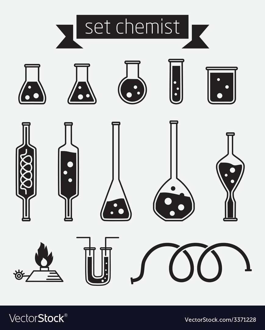 Set chemist vector | Price: 1 Credit (USD $1)