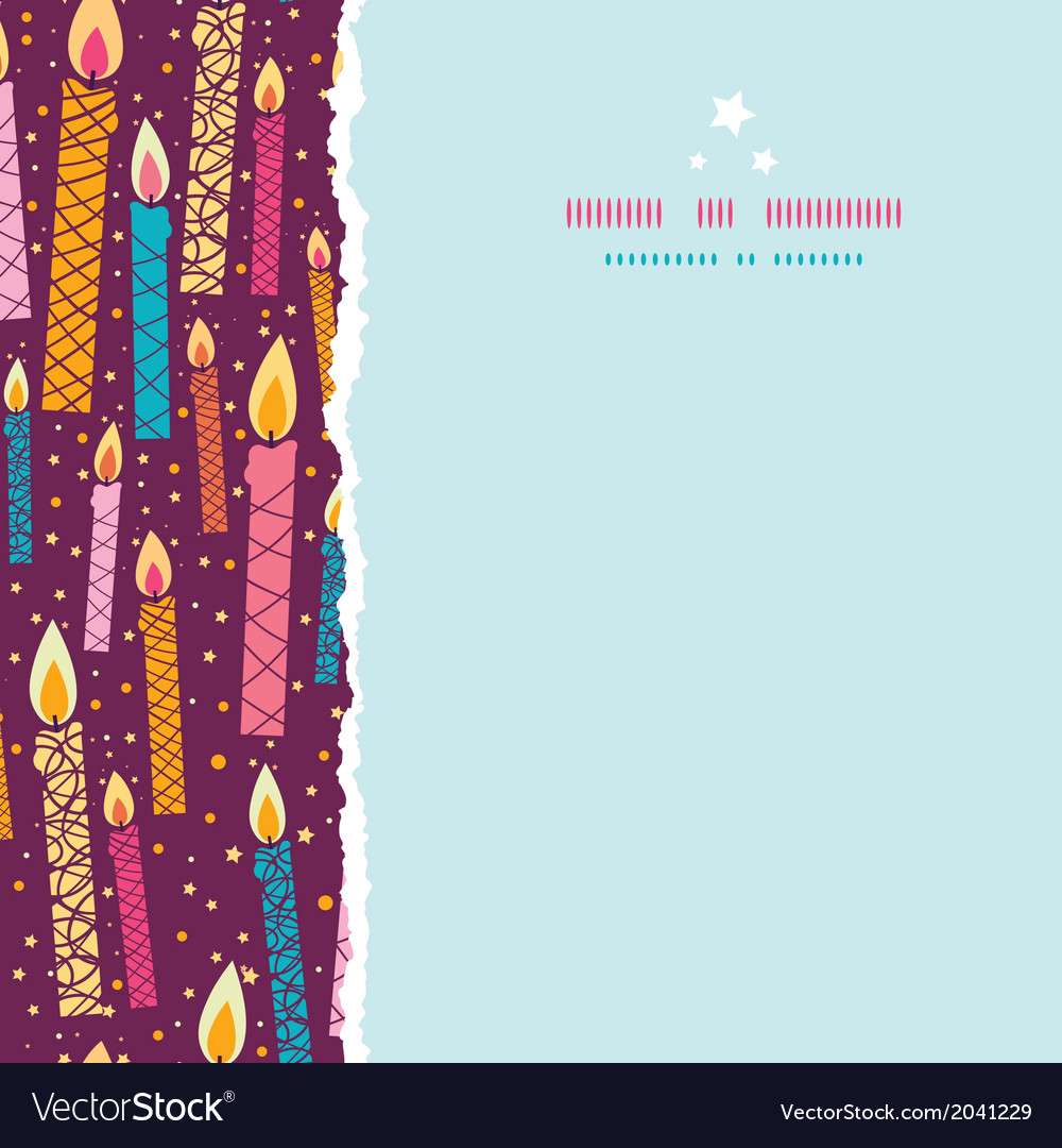 Colorful birthday candles square torn seamless vector | Price: 1 Credit (USD $1)