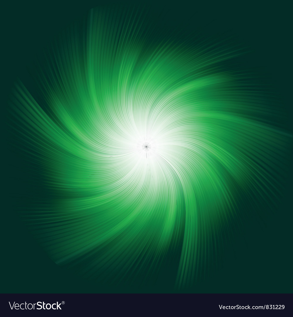 Green twirl background vector | Price: 1 Credit (USD $1)