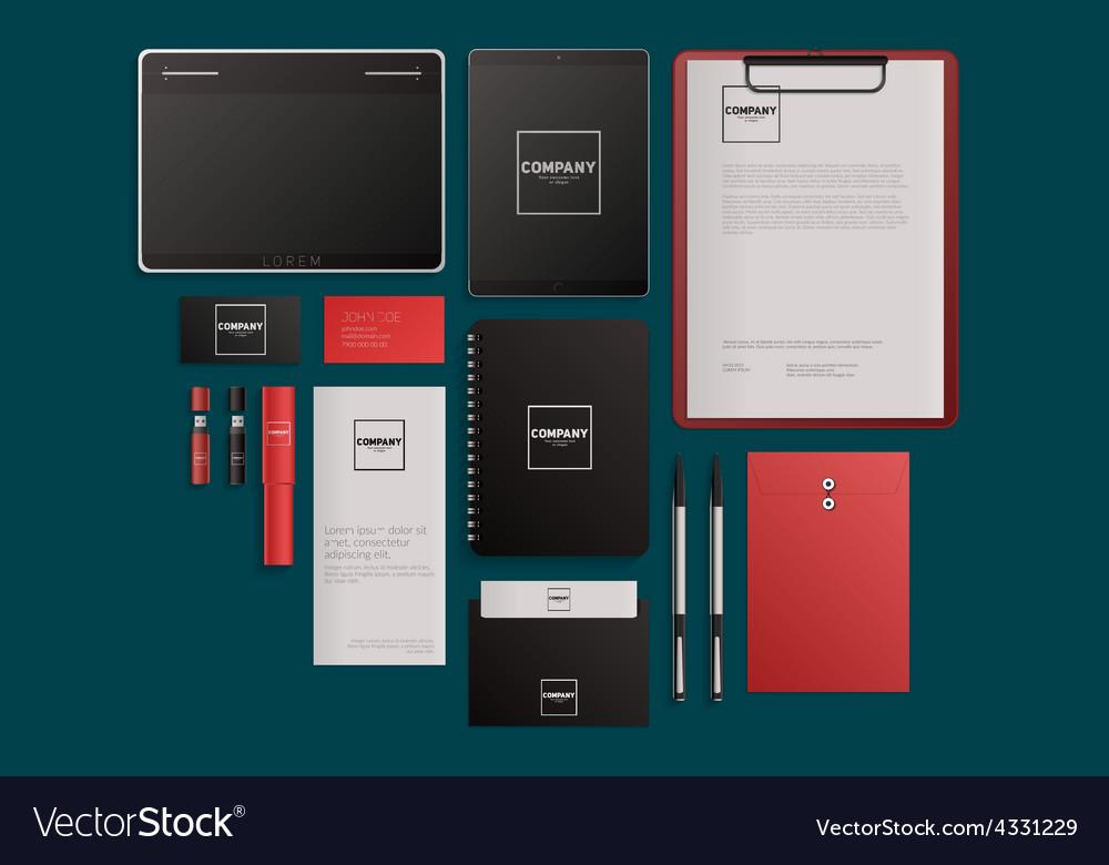 Modern corporate identity template design flat vector | Price: 1 Credit (USD $1)