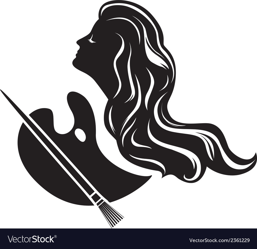 Muse of painting black stencil for stickers vector | Price: 1 Credit (USD $1)