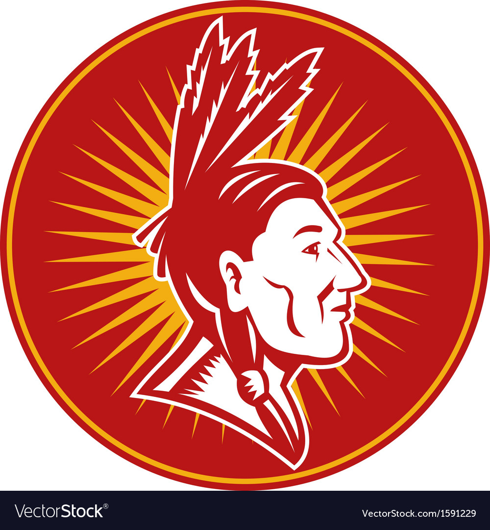 Native american indian chief vector | Price: 1 Credit (USD $1)