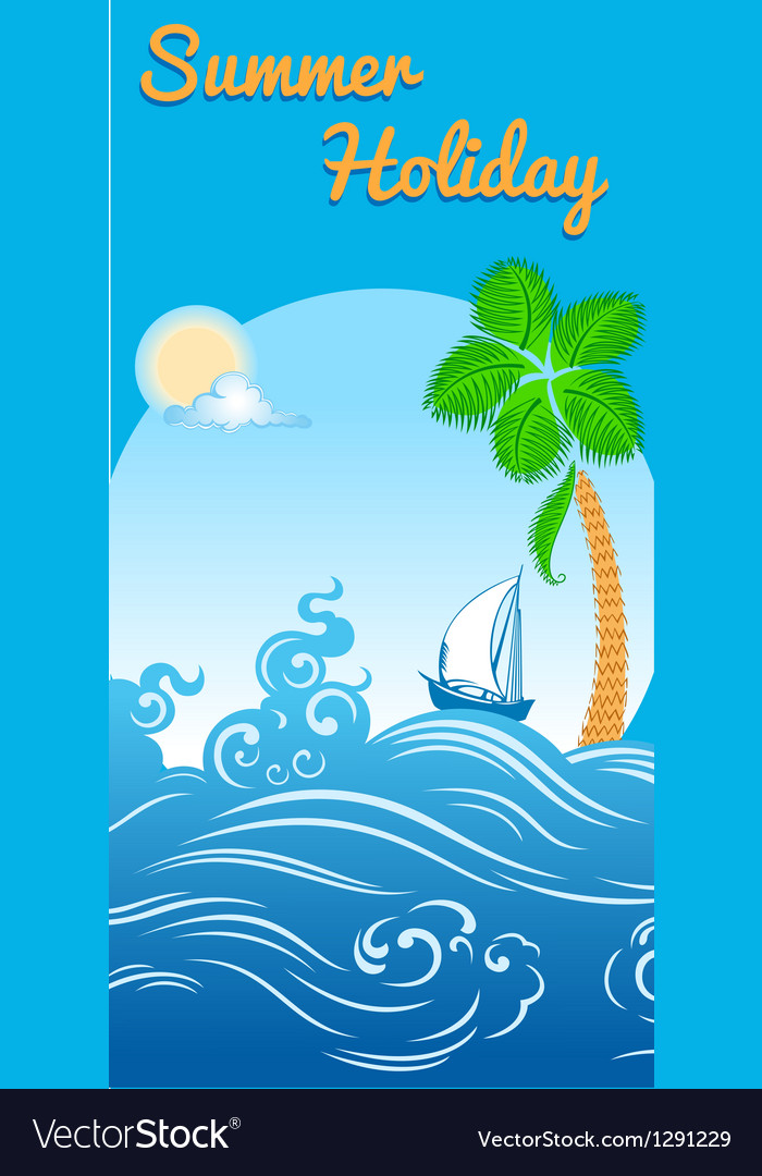Sea travel template vector | Price: 1 Credit (USD $1)