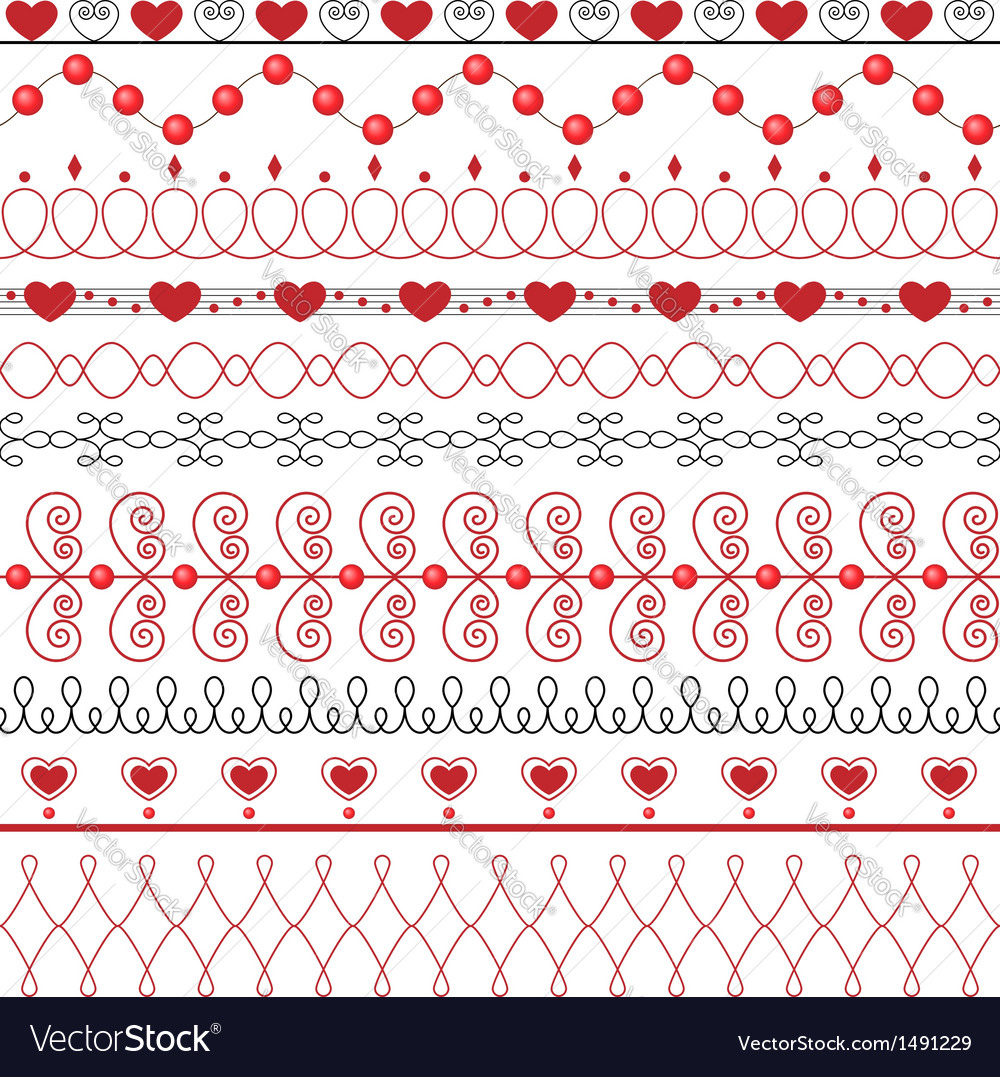 The set of ten decorative elements vector | Price: 1 Credit (USD $1)