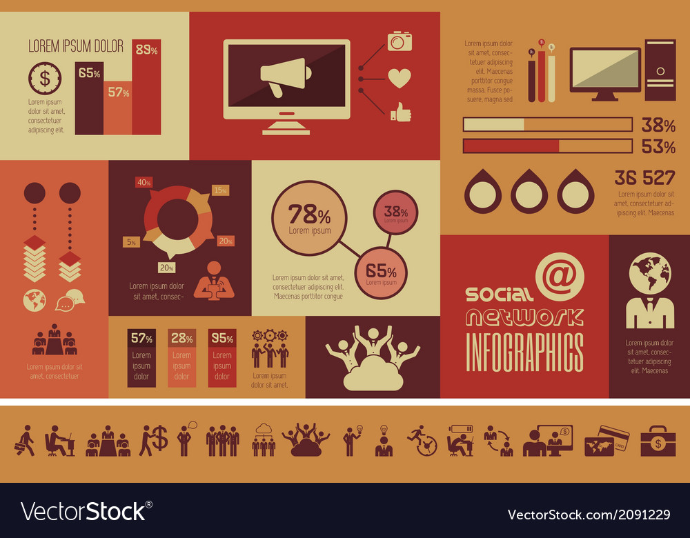 Social media infographic template vector   Price: 1 Credit (USD $1)