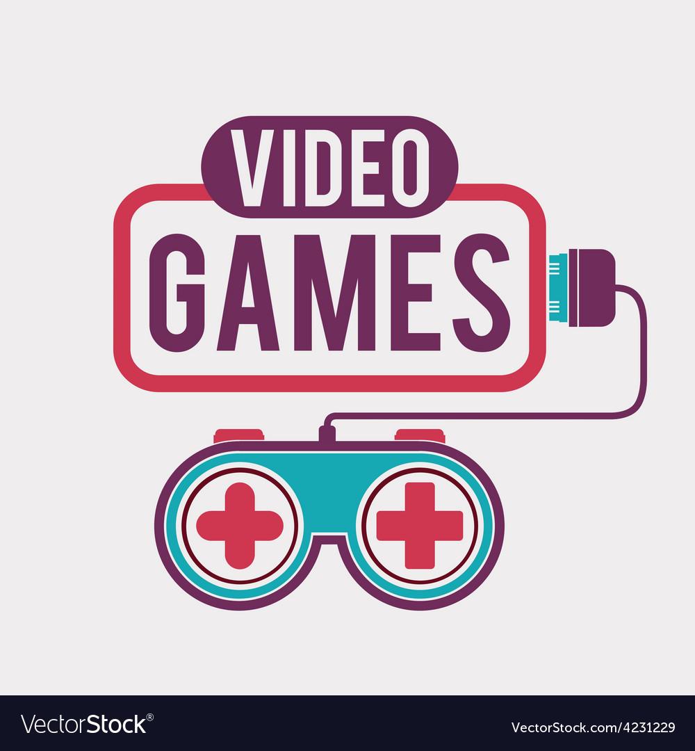 Video games design vector | Price: 1 Credit (USD $1)