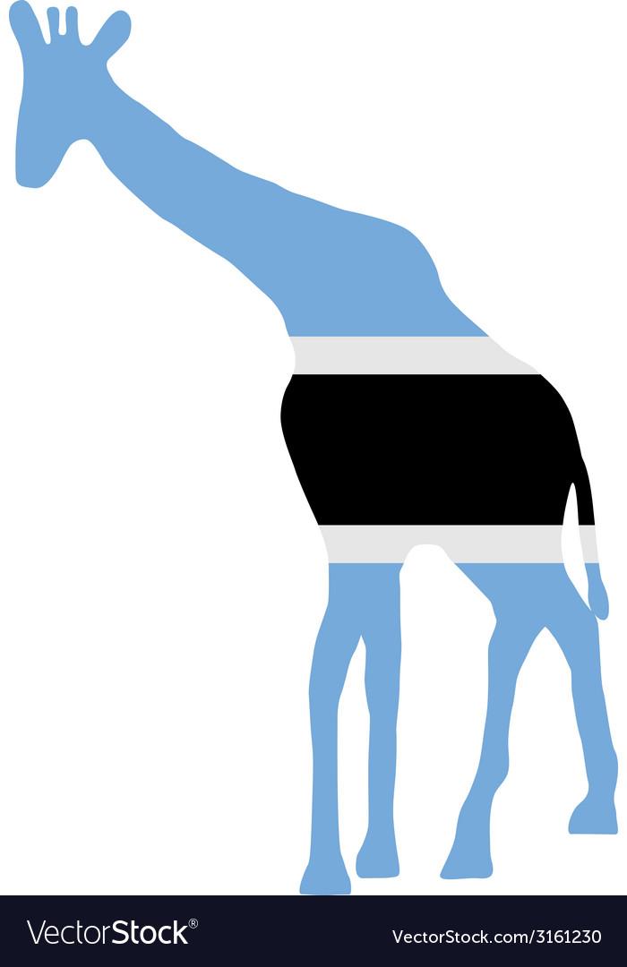 Botswana giraffe vector | Price: 1 Credit (USD $1)
