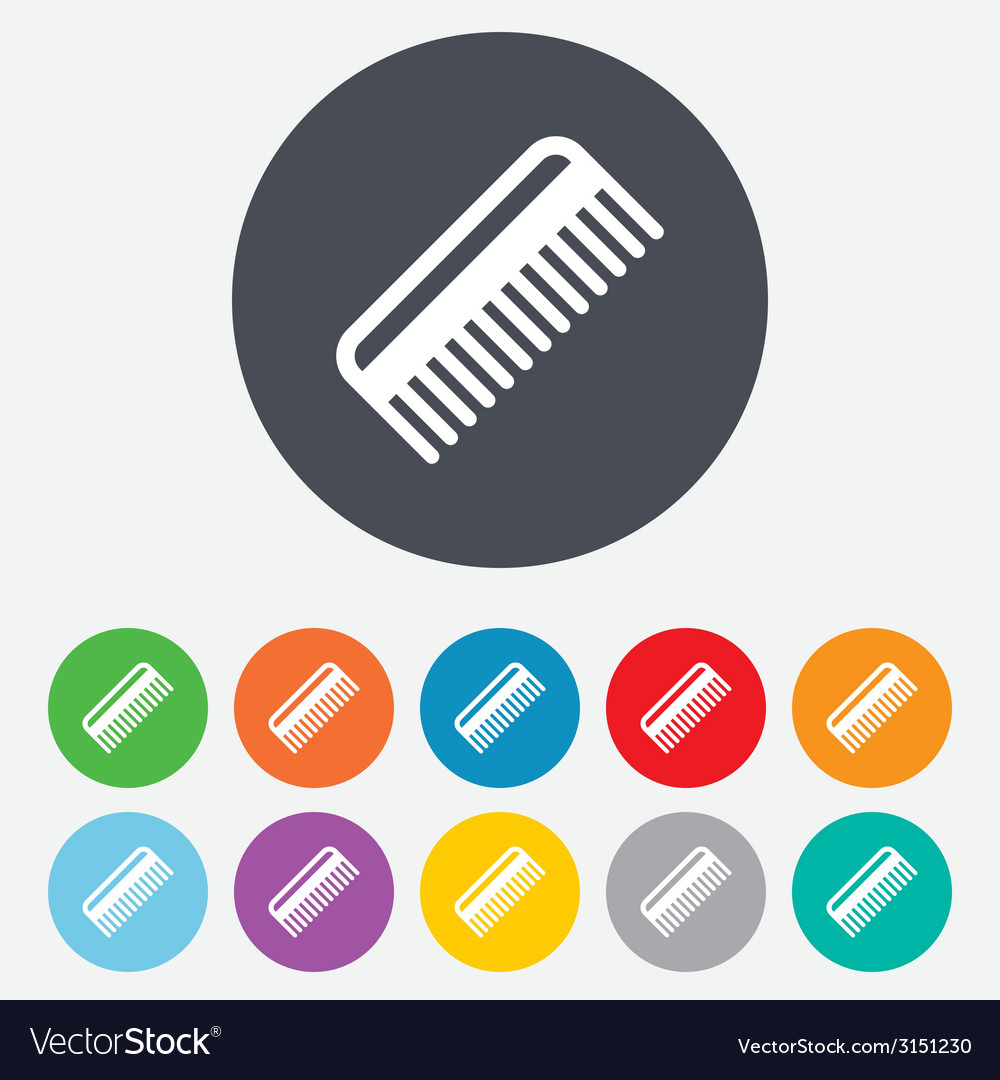 Comb hair sign icon barber symbol vector | Price: 1 Credit (USD $1)