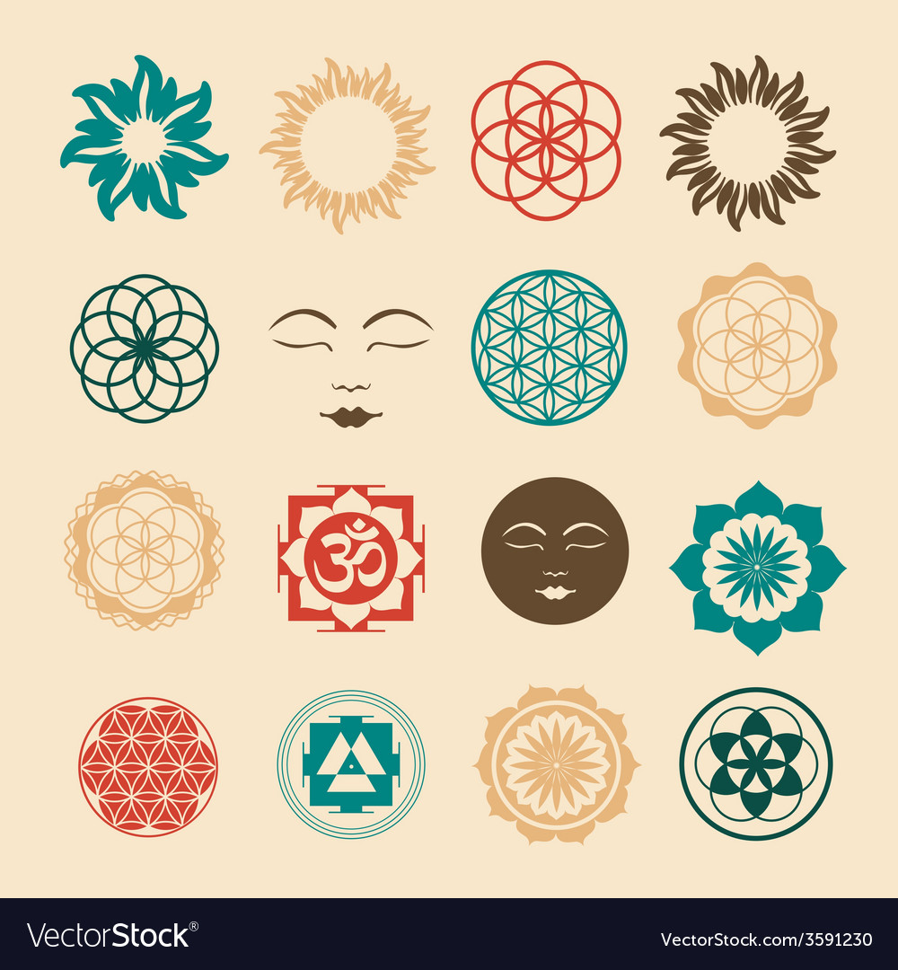 Esoteric icons set vector | Price: 1 Credit (USD $1)