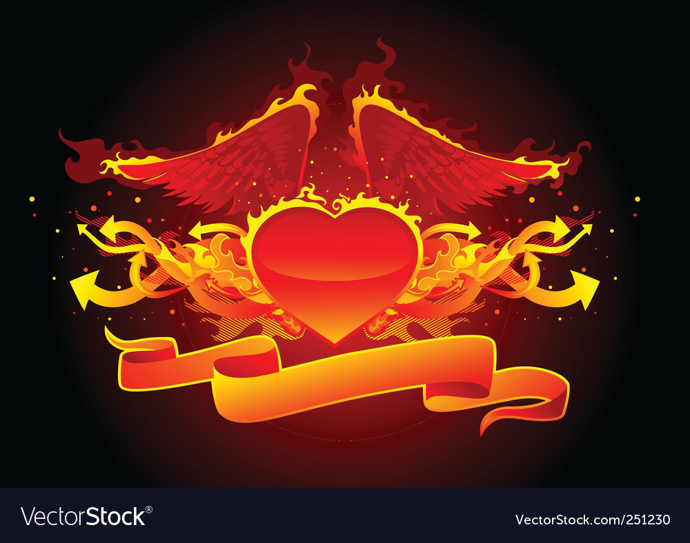 Fire and arrows line vector | Price: 1 Credit (USD $1)
