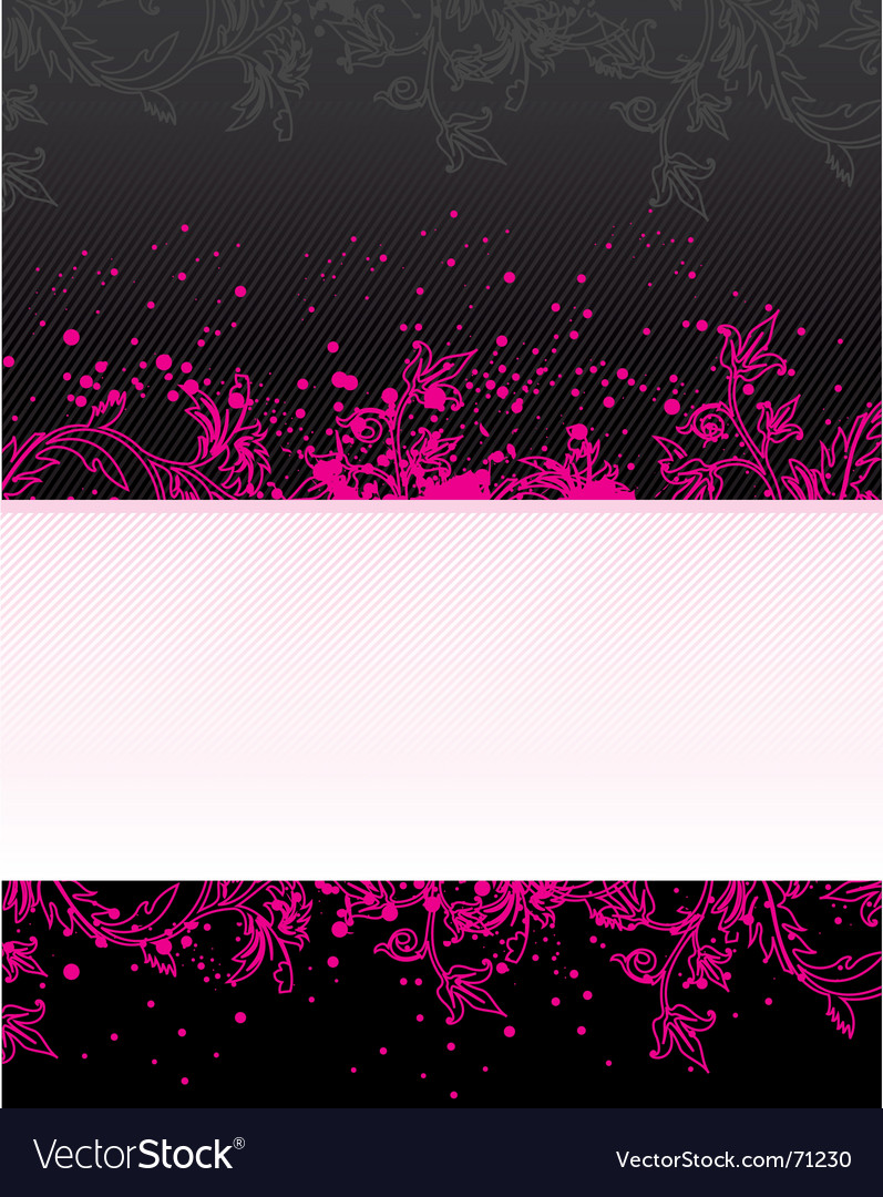 Floral grunge banner vector | Price: 1 Credit (USD $1)