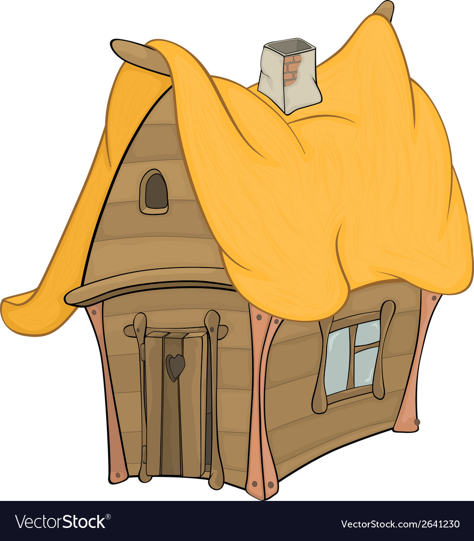 Funny little house vector | Price: 1 Credit (USD $1)