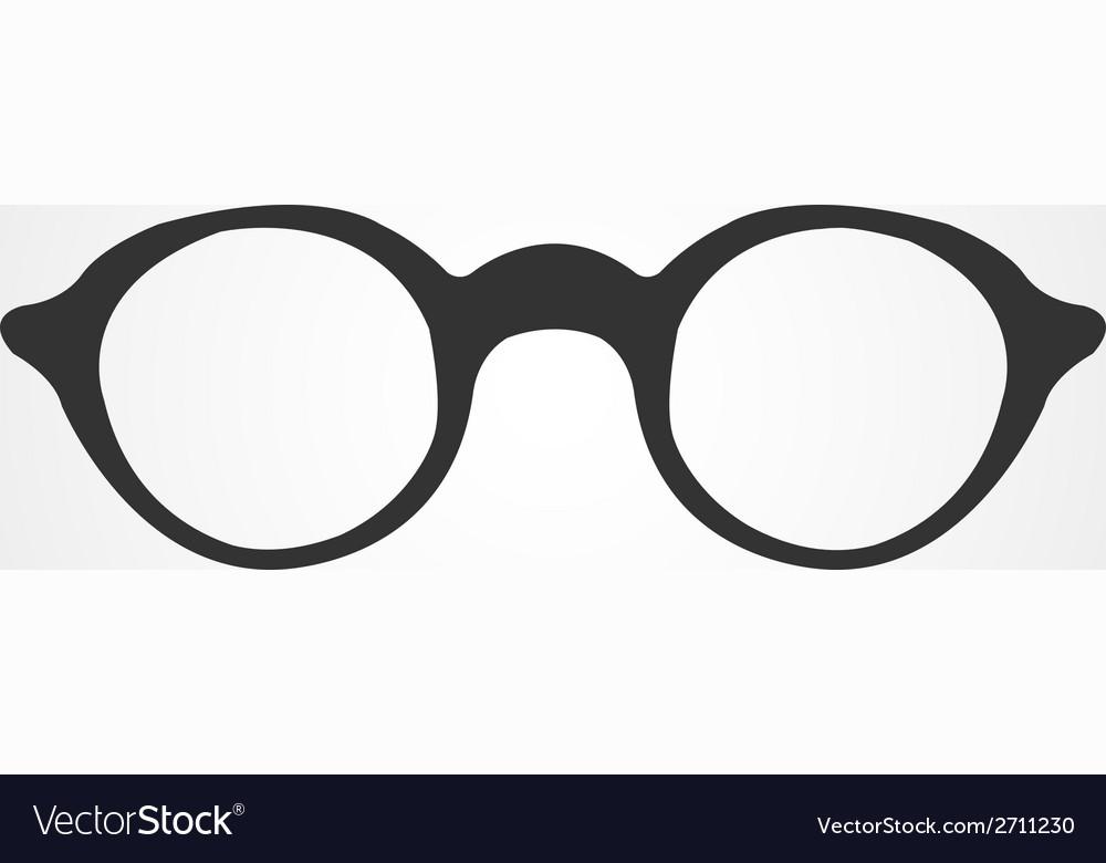 Glasses icon flat design vector | Price: 1 Credit (USD $1)