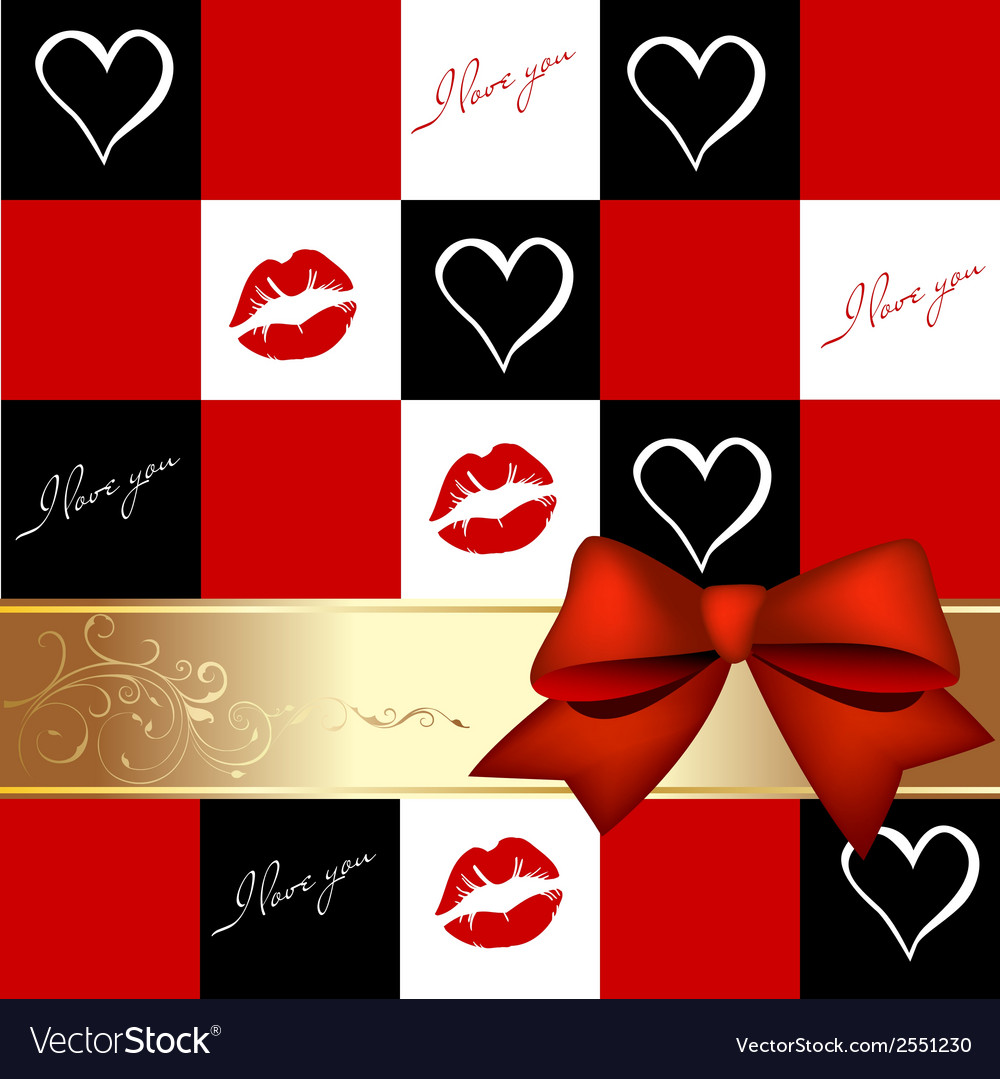 Romantic greeting card vector | Price: 1 Credit (USD $1)