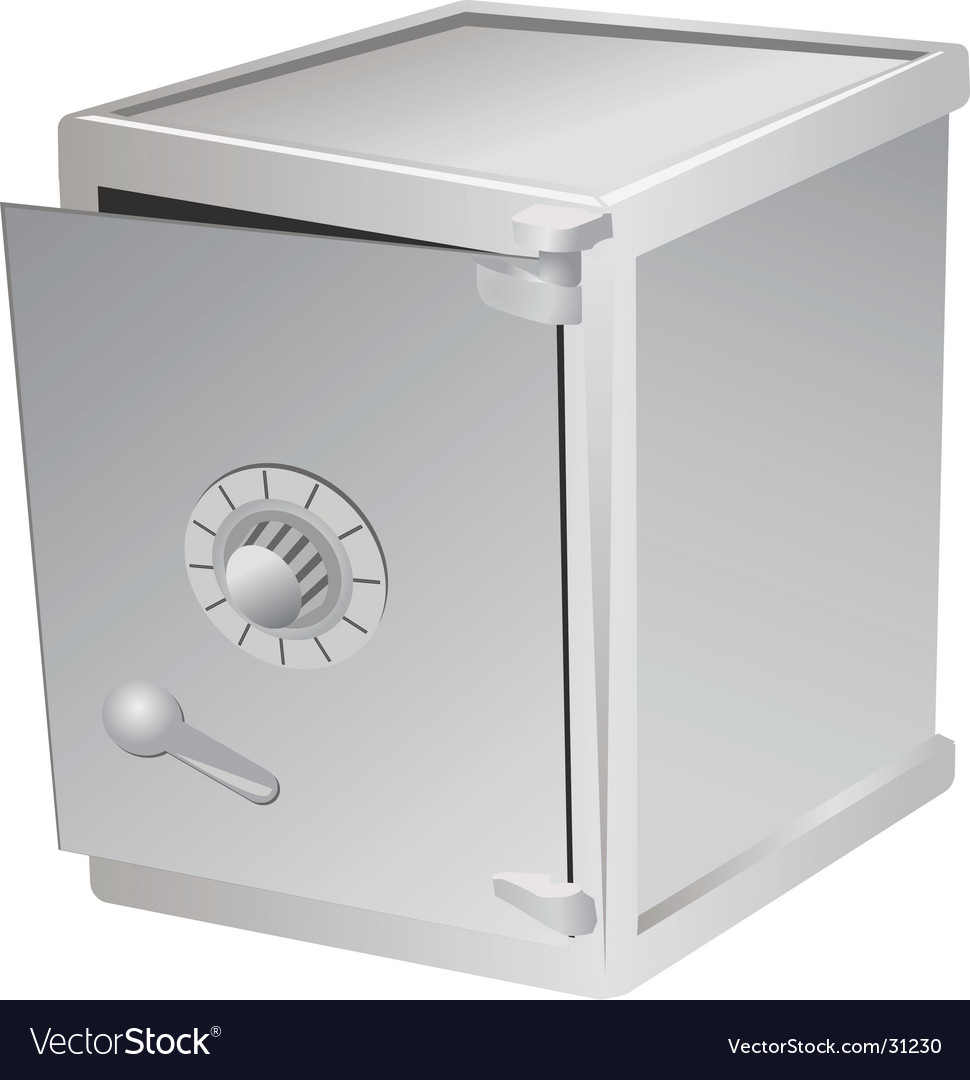 Safe with door ajar vector | Price: 1 Credit (USD $1)